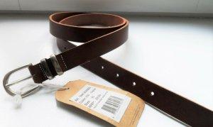 Cowboysbelt Cinturón de cuero coñac-color plata Cuero