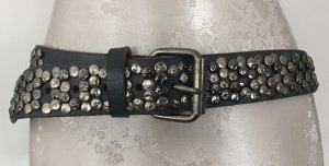 Cowboysbelt Studded Belt grey-silver-colored