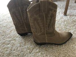 Sacha Boots western beige cuir