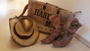 Botas estilo vaquero marrón claro-coñac