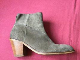 Marc O'Polo Botas estilo vaquero marrón arena-marrón grisáceo Gamuza