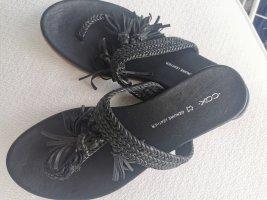 Cox Flip-Flop Sandals black leather