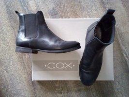 ♥COX ♥ Leder Chelsea Boots Halbstiefel Schwarz