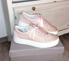 COX Plateau-Sneaker Damen nude-rosé Perlen Satin Gr. 40 Neu!