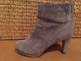 Cox Platform Booties grey leather