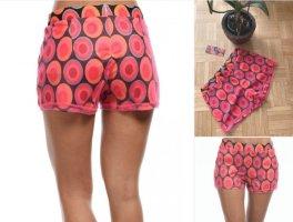 CrAZy Damen Shorts/Pants - Retro - Pink/Red - Größe S/M 34/36