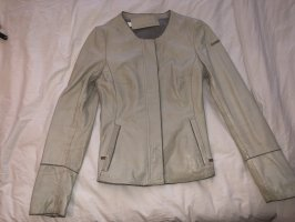Milestone Leather Jacket natural white