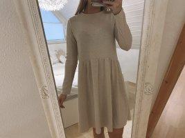 Creme Minikleid Langarm   Zara