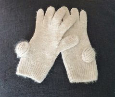 H&M Knitted Gloves multicolored angora wool