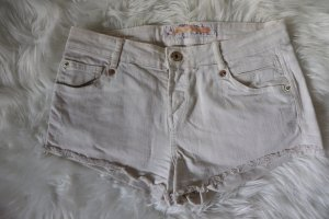 Crèmefarbene Hotpants