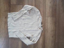 Esprit Warkoczowy sweter w kolorze białej wełny-kremowy