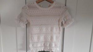 H&M Crochet Shirt natural white