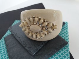 Armlet oatmeal-silver-colored
