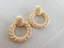 Boutique Ware Wiszące kolczyki złoto