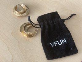 VFUN Pendientes tipo aro color oro
