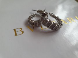 -8- Venice Pendientes tipo aro color plata-gris claro