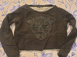 Tally Weijl Oversized trui zilver-zwart