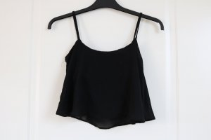 Crop Top locker schwarz