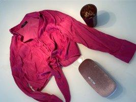 Cropped Bluse in pink zum binden