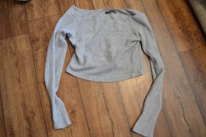 Brandy & Melville Carmen Shirt light grey-grey