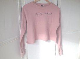 H&M Divided Camisa recortada rosa empolvado Algodón