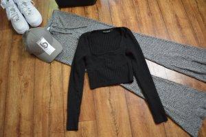 Cropped Pullover schwarz 36 von Honeybom