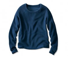 Woman by Tchibo Cropped Jumper blue