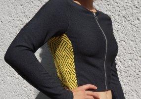 H&M Divided Camicia cropped giallo-nero