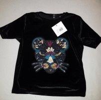 Cropped Shirt von Missguided Petite Gr. 34 mit toller Applikation – NEU!