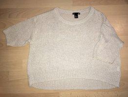 H&M Camicia maglia beige chiaro