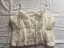 Zara Top tipo bustier blanco-blanco puro