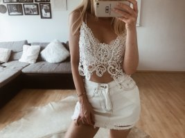 Cropped shirt wit-wolwit