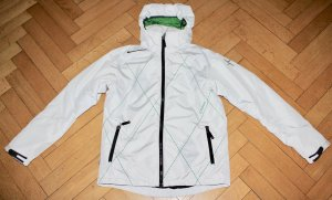 Cross Golfjacke weiß Gr. M 40 Golf wasserdicht Regenjacke Jacke Kapuze TOP!