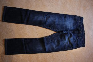 CROSS JEANS Boyfriend Trousers dark blue cotton