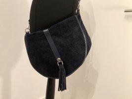 Crossbody Tasche dunkelblaues Leder Georges Rech