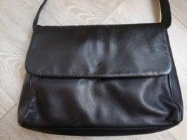 Crossbodytasche Echtleder in schwarz