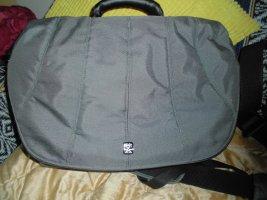 Laptop bag grey-cornflower blue synthetic fibre
