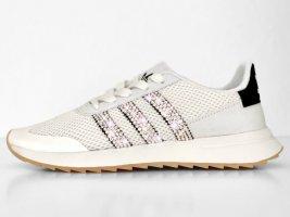 Crystal Adidas Flashback W Luxus Sneakers mit Swarovski Elements white / black
