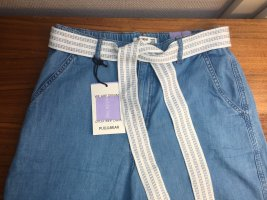 Pull & Bear Pantalone culotte blu fiordaliso-azzurro