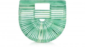 Cult Gaia Mini Acrylic Ark Bag in Seaglass