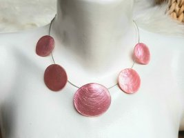 Culture Mix Schelpenketting lichtgrijs-roze