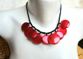 Culture Mix Shell Necklace black brown-red
