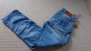 Cycle Jeans boyfriend bleu azur coton