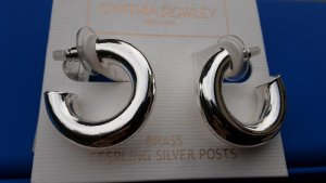 Cynthia Rowley, Ohrstecker,  Brass Sterling Silver Posts