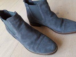 Cypres Chelsea laarzen donkergrijs-donkerblauw Suede