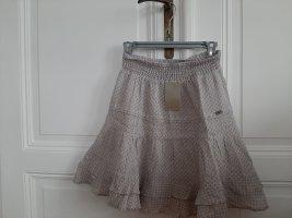 Cyrillus Flounce Skirt white-light grey