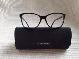 Dolce & Gabbana Lunettes de soleil angulaires brun