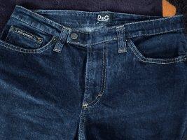 Dolce & Gabbana Jeansy z prostymi nogawkami ciemnoniebieski