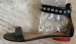 Dolce & Gabbana Roman Sandals black-azure leather