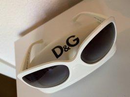 Dolce & Gabbana Occhiale da sole ovale bianco